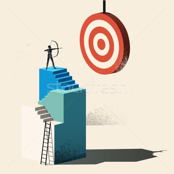 üzlet cél cél magas személy mászik Stock fotó © solarseven