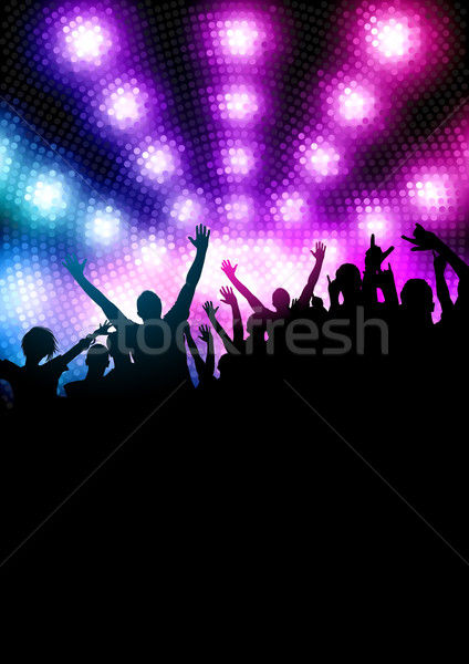 Stock photo: Happy Party Crowd