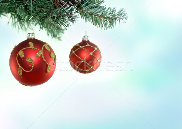 Christmas Tree & Baubles Stock photo © solarseven
