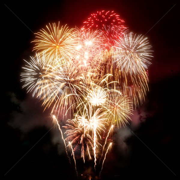 Beautiful Golden Fireworks Display Stock photo © solarseven