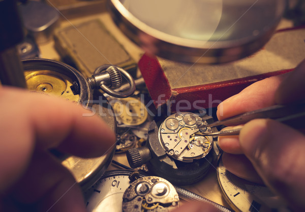 Watchmakers Craftmanship Stock photo © solarseven
