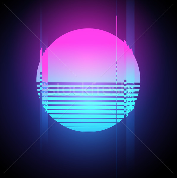 Neon soare efect retro 1980 Imagine de stoc © solarseven