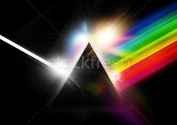 Retro piramidy wysoki technologii tle Zdjęcia stock © solarseven