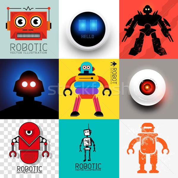 Vector Robot Collection Stock photo © solarseven