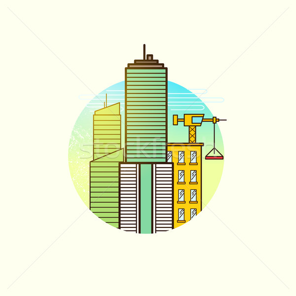 Developing City Vector Stock photo © solarseven