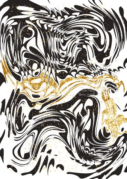 Black and Gold marble Paper Stock photo © solarseven