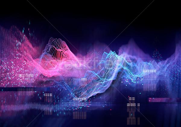 Technical Futuristic Graph Stock photo © solarseven
