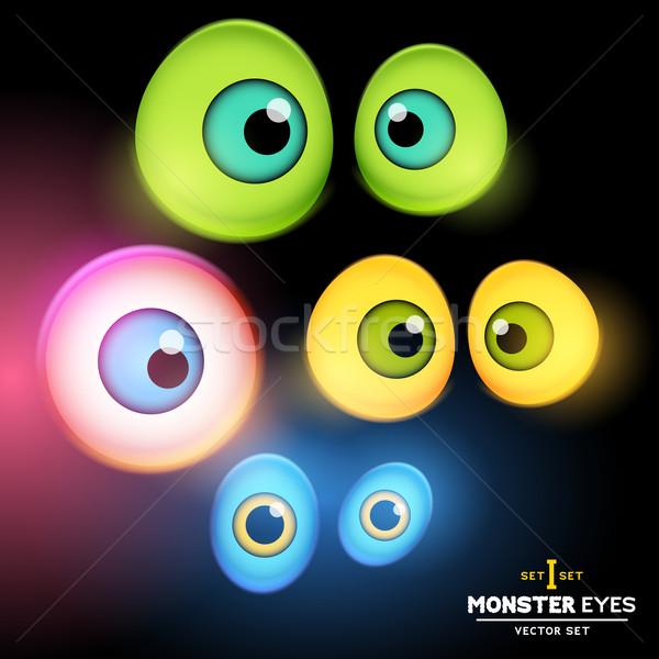 Monstruo globo del ojo establecer colección ojo eps Foto stock © solarseven