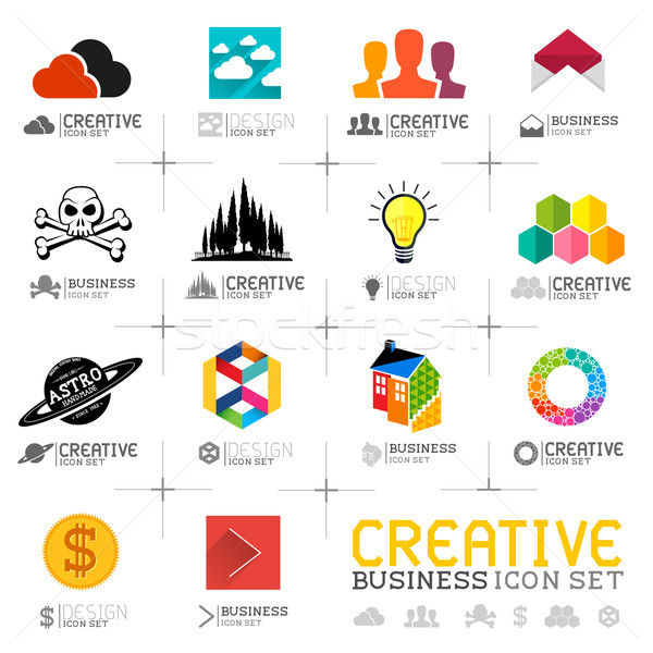 Creative Business Icons Stock photo © solarseven