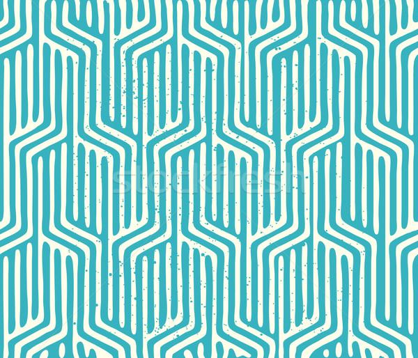 бесшовный вектора геометрическим рисунком геометрический текстуры Сток-фото © solarseven