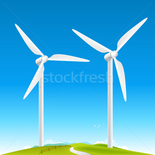 Wind Turbines Landscape Stock photo © solarseven