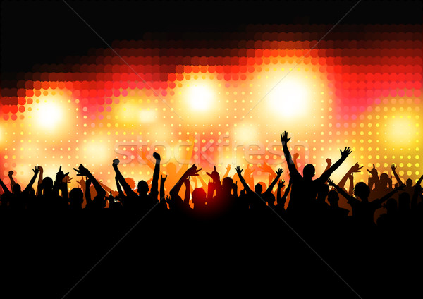 Stock photo: Crowd of Party People