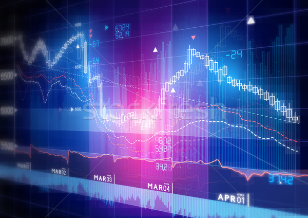 Stock Market Graph Stock photo © solarseven