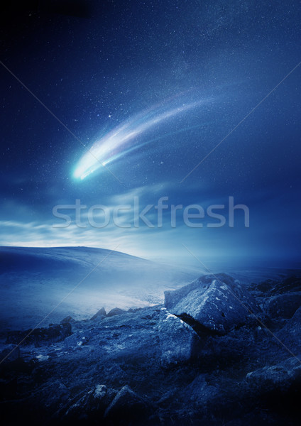 Night Sky Comet Stock photo © solarseven