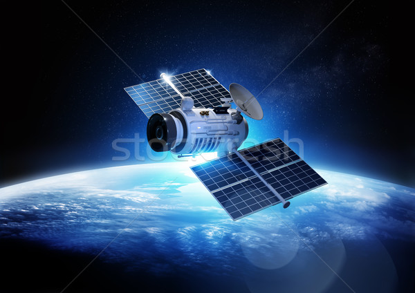 Comunicazioni satellite informazioni dati indietro terra Foto d'archivio © solarseven