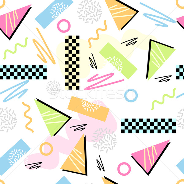 Eighties Seamless Pattern Vector Stock photo © solarseven