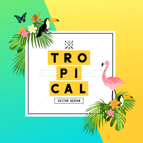 Tropical Summer Rainforest Background Stock photo © solarseven