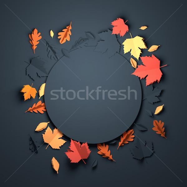 Paper Art - Autumn Background Stock photo © solarseven