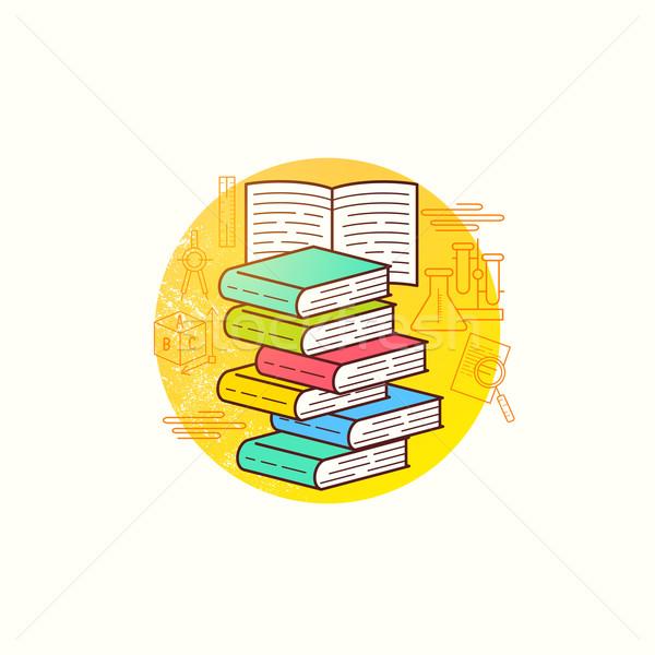 Stock photo: Book Collection Vector