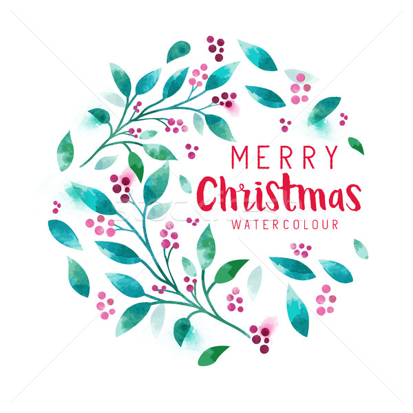 Christmas Floral wreath Stock photo © solarseven