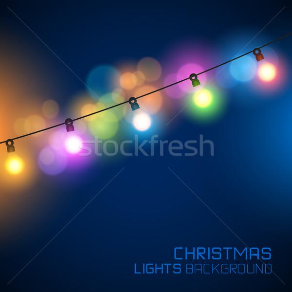 Stock photo: Glowing Christmas Lights