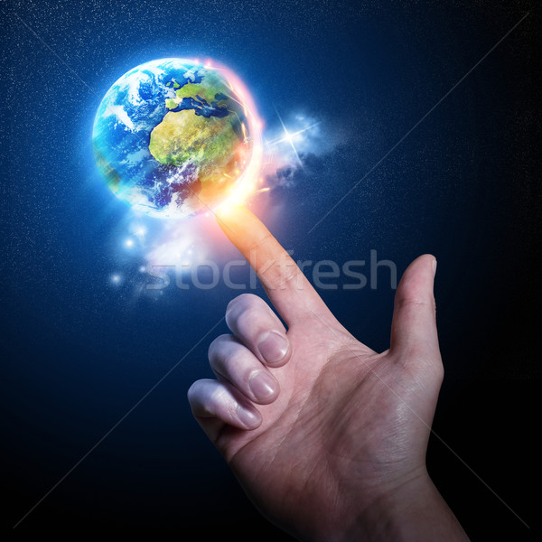 World on your Fingertip Stock photo © solarseven