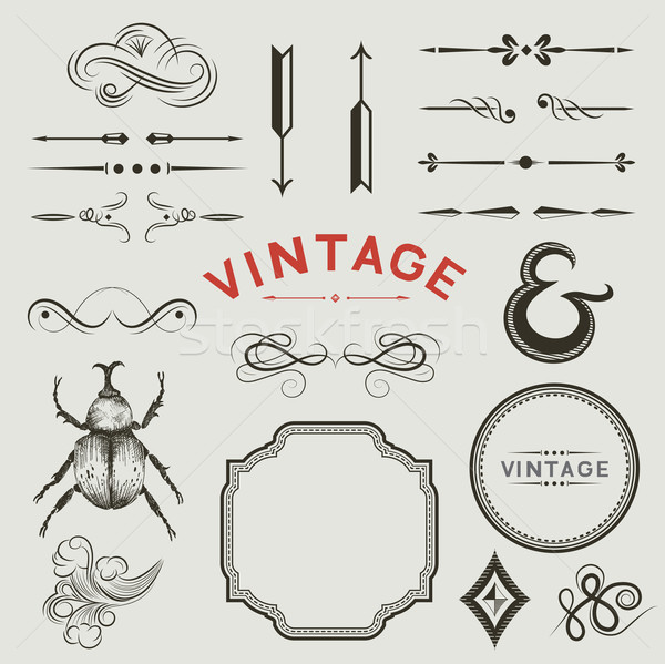 Vintage Vector Elements Stock photo © solarseven