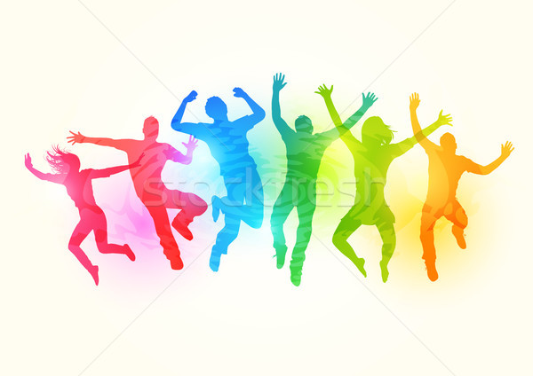 Large group of People Jumping Stock photo © solarseven