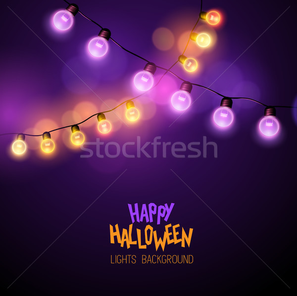 Halloween Festive Fairy Lights Stock photo © solarseven