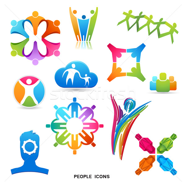 People Icons and Symbols Stock photo © solarseven