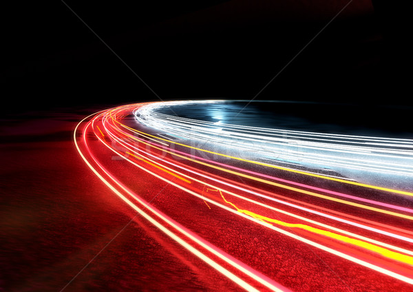 Curved Light Trails Stock photo © solarseven