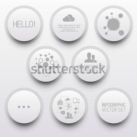 Clean Circle Label tabs Stock photo © solarseven