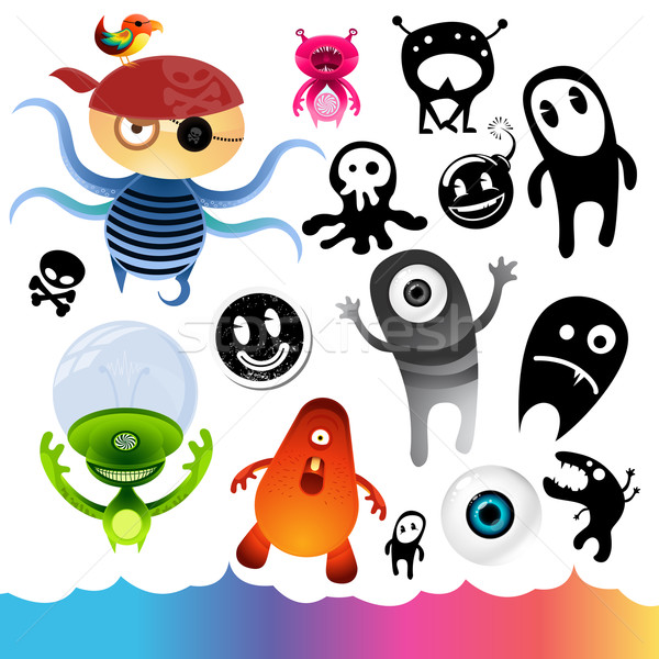 Stock photo: Monster Character Elements