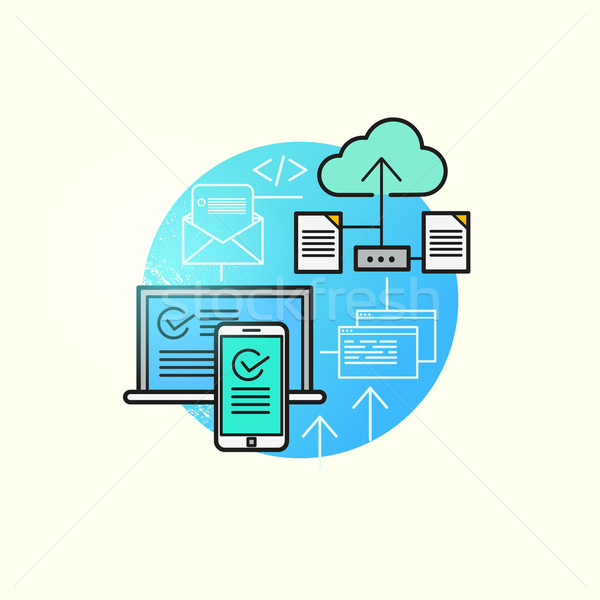Cloud Computing Vector Stock photo © solarseven