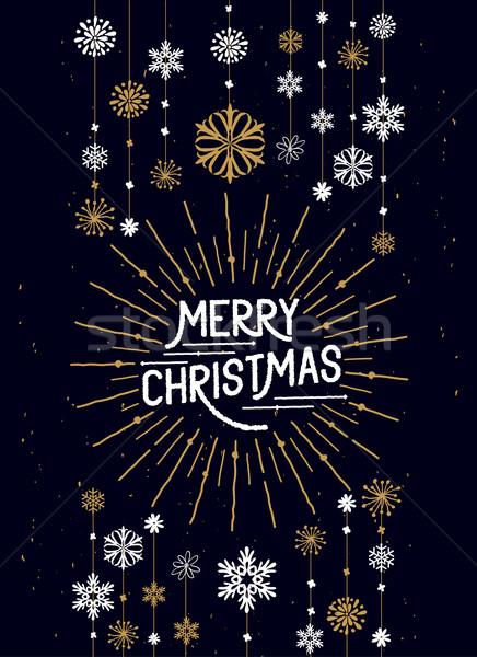 Merry Christmas Decorations Stock photo © solarseven