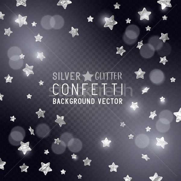 Silver Star Confetti Stock photo © solarseven