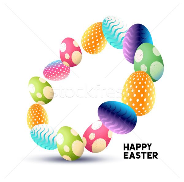 Húsvét szett absztrakt csokoládé húsvéti tojások textúra Stock fotó © solarseven