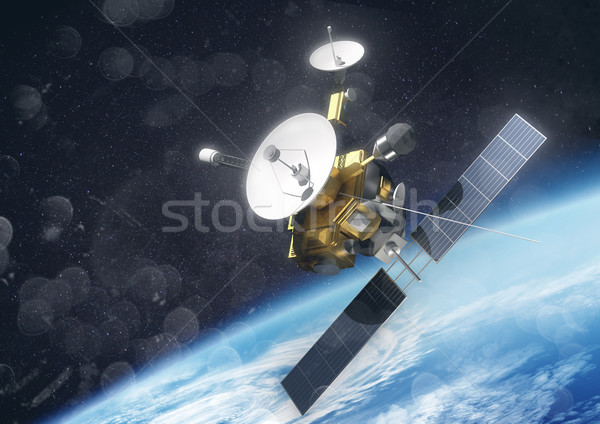 A Satellite Orbiting Earth Stock photo © solarseven