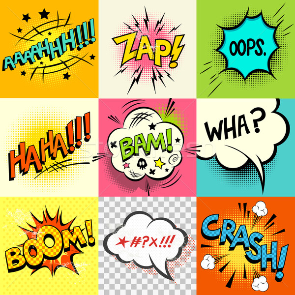 Comic Book Expressions! Stock photo © solarseven