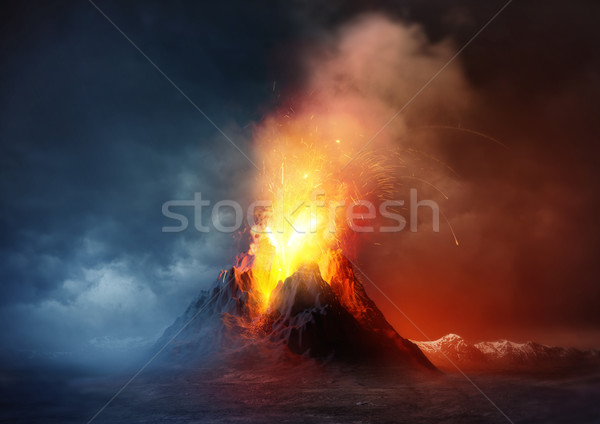 Volcano Eruption Stock photo © solarseven