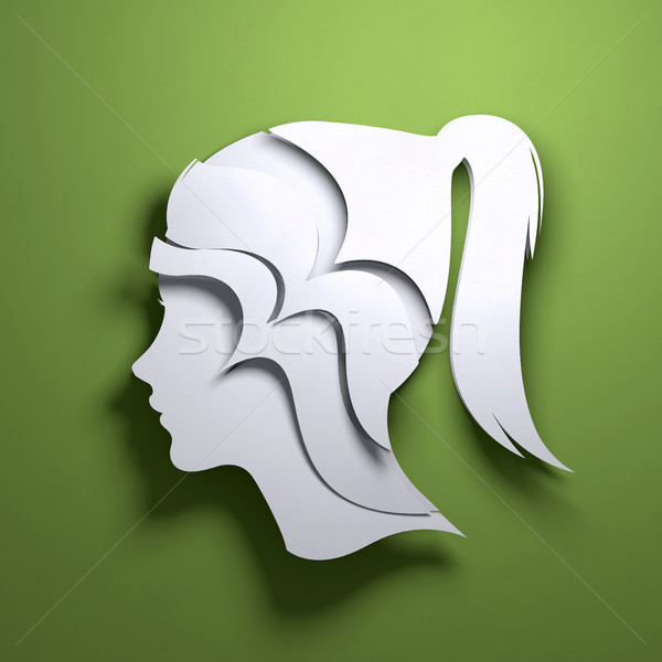Paper Art Origami - Abstract Mind Stock photo © solarseven