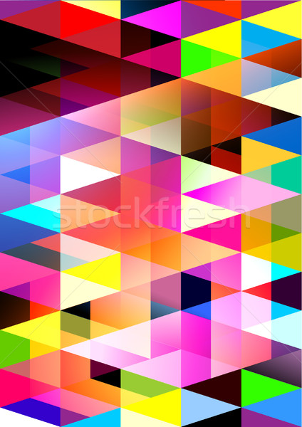 Geometric cosmaruri vector proiect abstract albastru Imagine de stoc © solarseven