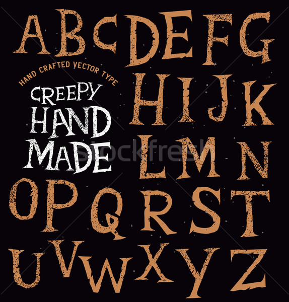 Creepy Ancient Handmade Lettering Stock photo © solarseven