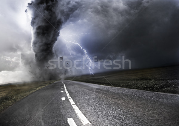 Stock photo: Powerful Tornado