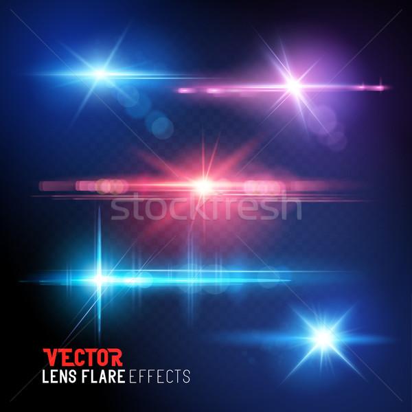 Objektif güneş ayarlamak vektör ışık Stok fotoğraf © solarseven
