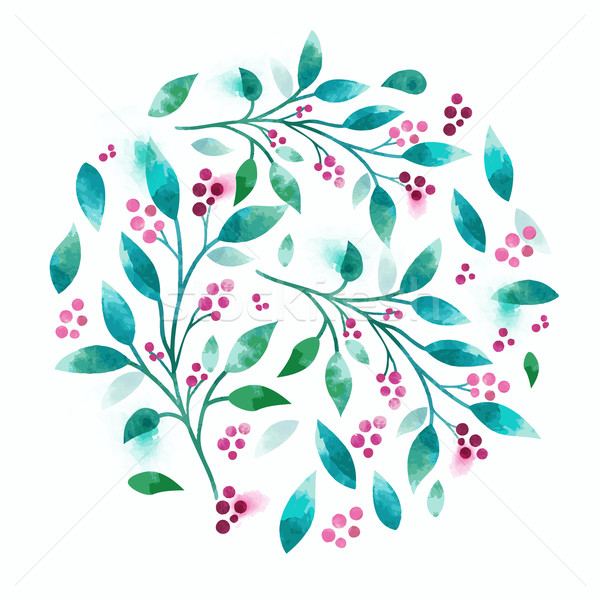 Floral Vector Watercolour Stock photo © solarseven