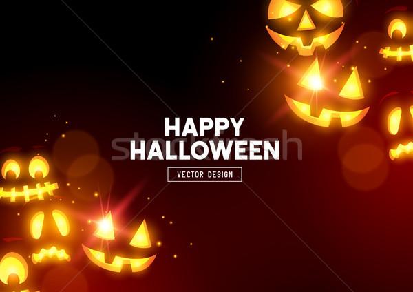 Halloween Pumpkin Background Vector Stock photo © solarseven