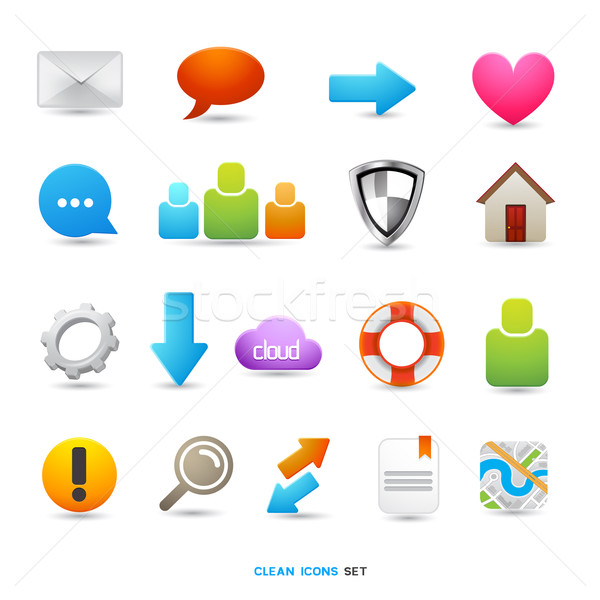 Clean Icon Designs Stock photo © solarseven