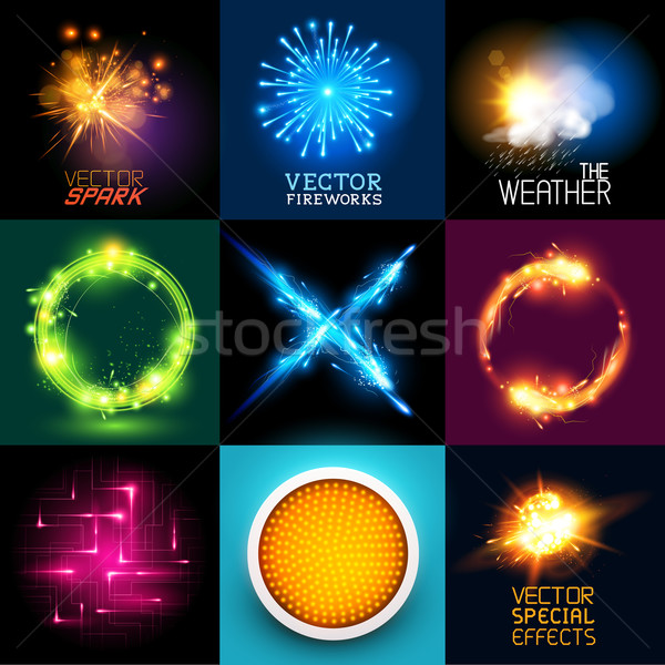 Vector Light Effects Collection Stock photo © solarseven