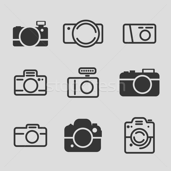 Modern Camera Icons Stock photo © solarseven